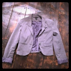 Fitted grey blazer